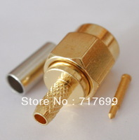 SMA male straight crimp connector for RG316,RG174 cable