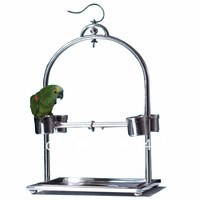 Stainless Steel Parrot Play Stand for Conures,Caique, Alexandrines-Sold by The Case