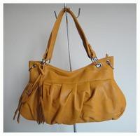 Hot sale wowen's bag,PU + hanging ornament,Size:40x27cm,four different colors,Two function(handbag/messenger bag),Free shipping