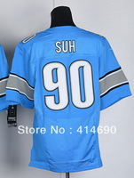 Free Shipping Wholesale&Retail Men's Elite American Football Jersey #90 Ndamukong Suh Jersey Embroidery Logos Size M-3XL