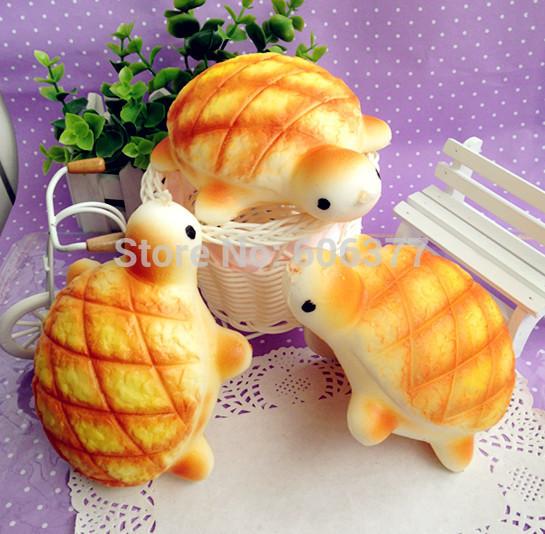 NEW 14cm Jumbo Tortoise / Turtle Bread Bun Squishy Cell Phone Charm/Free Shipping