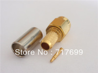 SMA male straight crimp connector for RG58,LMR195 cable