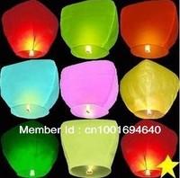 Free shipping Chineses Kongming Lanterns Flying Sky Lanterns Wishing Lamp (10pcs/Pack/Assorted Color)