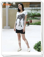2013 Hot sale spring and summer Giraffe 100% cotton high quality Maternity T-shirt Top, Maternity clothing free shipping