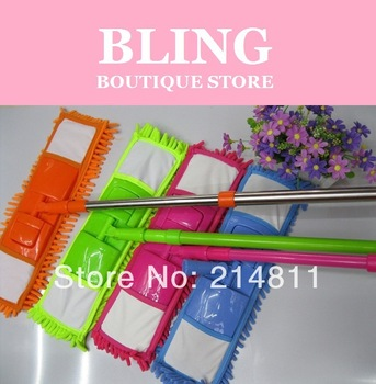 Bling Recommend Top Seller Free Shipping Chenille Retractable Floor Cleaning Brush Magic Mop Bathroon Kitchen Helper Hot Selling