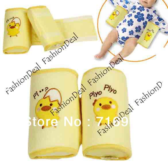 2013 New Cute Toddler Safe Anti Roll Baby Pillow Sleep Head Positioner Yellow Free Shipping 3996(China (Mainland))