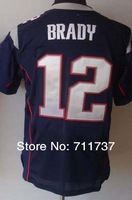 Free Shipping #12 Tom Brady Men's Elite American Football Jersey,Embroidery and Sewing logos,Size M-3XL,Accept Mix Order