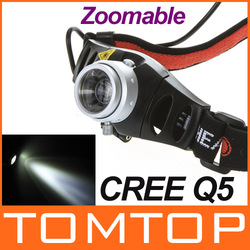 Ultra Bright Cordless Mining CREE Q5 LED Lamp Head light Torch Headlamp Zoomable for Camping Hiking Hunting Free Drop Shipping(China (Mainland))