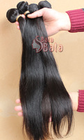 Malaysian Straight remy virgin hair 3pcs/lot  human hair extension 1B color free shipping by DHL