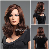 2013 new  hot sale gobal Popular Fashion woman's Wig long virgin sexy hair French Lace front  Wigs sexy auburn color ZL409A-33