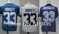 Dallas #33 Tony Dorsett Men's Authentic Throwback 1977 Team Blue/White 1984 Team Navy Football Jersey