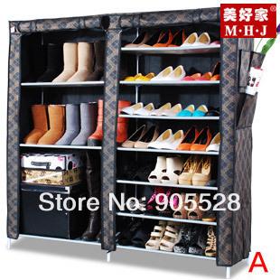 Hot sale New arrive 2013 Adjustable Shoe Storage / Ten Layer Shoe Cabinet /simple&Non-woven& dustproof shoes rack(China (Mainland))