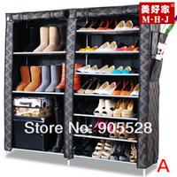 Hot sale New arrive 2013 Adjustable Shoe Storage / Ten Layer Shoe Cabinet /simple&Non-woven& dustproof shoes rack