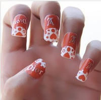 Free Shipping Brand Name 10 different styles available 3D nail sticker/Nail Decals/Nail Art Decoration