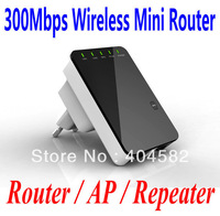 Freeshipping 300Mbps Wireless Mini Single Router/AP/Repeater +Retail packaging