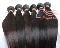 "Top quality virgin human hair extension mix length 12""-30"" Peruvian straight 3pcs/lot free shipping"