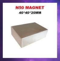 Ndfeb magnet Free shipping N50 40*40*20mm WholeSale Craft Model Powerful Strong Rare Earth NdFeB Block Magnet Neodymium