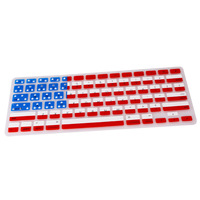 2014 hot new arrival! USA FLAG pattern Silicone Keyboard Cover Skin for Macbook Pro 13 15 17 inch US KEYBOARD LAYOUT