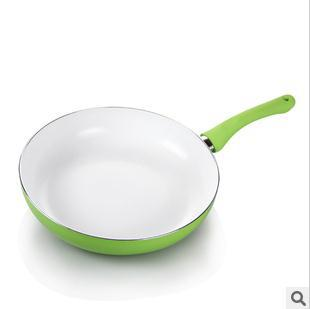 28cm ceramic pan ,Non stick frying pan,smoke-free  no cover,Free shipping