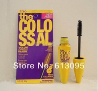 3 pcs/lot Free Shipping Mascara Volume Express Colo SSAL Mascara, with Collagen, black, Mega Brush 9.2 ml