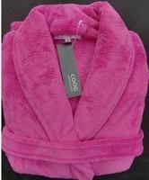 Coral fleece pajamas coral fleece gown bath robe female pink
