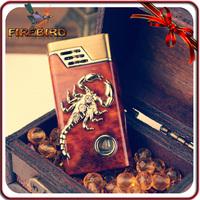 FIREBIRD Classic Cigarette Butane Cool Scorpion Pattern Zinc Alloy Windproof Gas Lighter