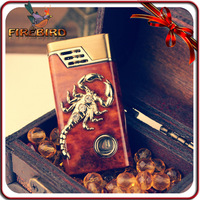 FIREBIRD Classic Cigarette Butane Cool Scorpion Pattern Zinc Alloy Windproof Gas Lighter