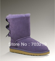 2012 New Arrival Original Snow boots 3280 BAILEY BOW Genuine Sheepskin Winter Boots , 4 colors size 5-9, free shipping