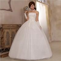 Free Shipping 2014 Fashion Sweet Tube Top Bride Princess Wedding Dress