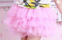 Children's skirt  girl waist skirt princess skirt girl's dance skirt with various colors, free shipping