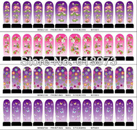 FreeShipping 24 sheets Different Style Water decals Nail Stickers Full Cover Nail tips For Fingernail Beauty Desgin Wholesale