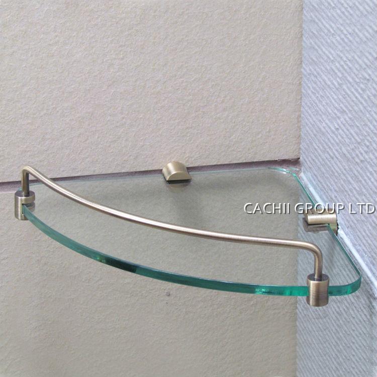 antique brass single layer shower room storage glass. Black Bedroom Furniture Sets. Home Design Ideas