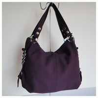 A053(purple),newest handbag for 2013,Size:44 x 29cm,PU + hanging ornament,5 different colors,two function,Free shipping