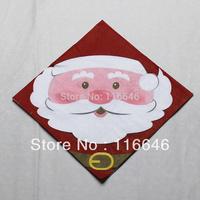 Santa Claus paper print table napkin paper handkerchief paper towel tissue christmas 5bags/lot free shipping