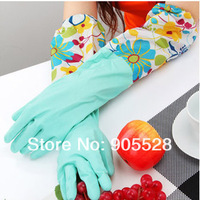 Gloves &waterproof dish washing gloves/ kitchen product/ home supplies/ housework necessary with lint inside