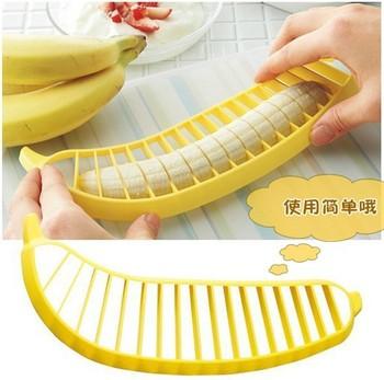 Free Shipping  Banana Slicer Cutter Chopper for Fruit Salad Sundaes Cereal kitchen Tools Helper(3PCS)