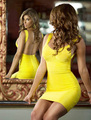 Free shipping HL307 2013 New arrival fashion yellow black backless sleeveless HL bandage Cocktail celebrity Dresses 5 colors