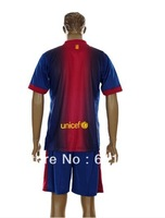 Barna home red blue kit soccer jersey 12-13 season embroidery logo with pants