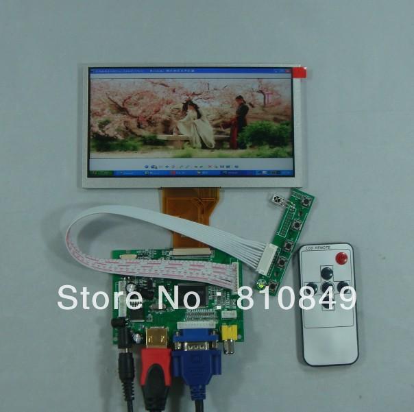 HDMI+VGA+2AV+Remote driver board + 6.5inch AT065TN14 800*480 Lcd Panel(China (Mainland))