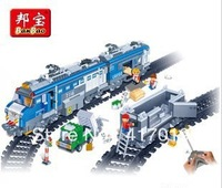 BanBao 8228 1275pcs Children educational toys building blocks remote control train Set fight Transport Freight