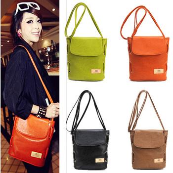 2013 New Arrival Retro Candy Color Women Lady Girl Shoulder Bag Satchel Messenger Handbag # L09225