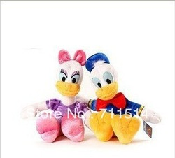 Free shipping Donald Duck Daisy / pair High quality Plush Stuffed toys /New Room/Sofa/Car pillow/Wedding gifts(China (Mainland))