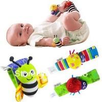 4 pcs/lots - Cartoon Animal style Baby Garden Bug Wrist Rattle/Bracelets/Baby Toys