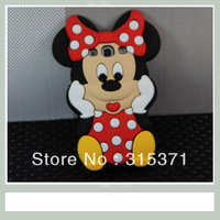 1PCS 3D Minnie bowknot Winnie Cartoon Silicone soft cover Case for SamSung I9300 GALAXY SIII S3 Free Shipping
