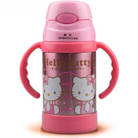 Hot sale Cartoon kettle Retails Hello Kitty thermos bottle insulated water bottle tumbler with straw Kids Vacuum Flasks