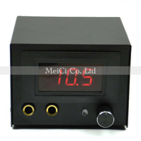 Black LCD Digtal Display Tattoo Power Supply for tattoos machine/gun with plug free shipping