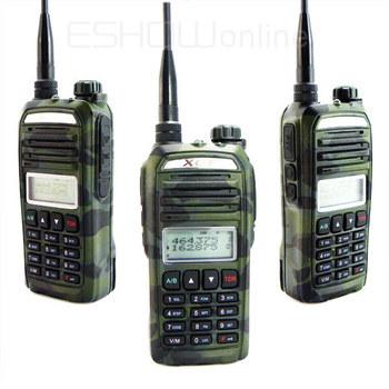 New green Walkie Talkie  5W 128CH Two-Way Radio dual band UHF&VHF Q-998 Transceiver  WIFH FM Radio Mobile Handled A0852M Fshow