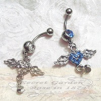 valentine's day Party Navel rings  Belly Buttion RS0119 10Pcs/lot Fashion Angel Lover Body piercing Jewelry