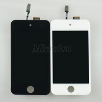 Black New LCD+Touch Screen Glass Assembly  for iPod Touch 4 4th Gen Free Shipping