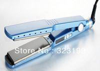 2013 Popular Straightener Iron Nano Titanium Pro 1 3/4 Dual Voltage Board for Hair HR10017 Free Shipping